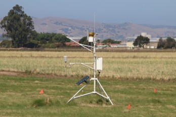 CropManage estimates crop water needs using crop development models and weather data from stations like the California Irrigation Management Information System (CIMIS) station shown here in Salinas.