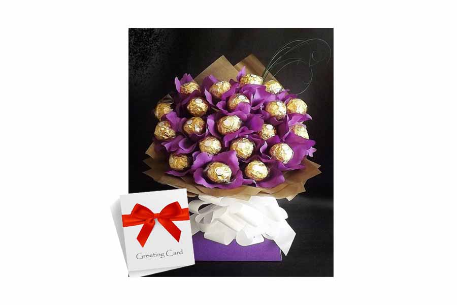 Chocolate Bouquet With Card Chandigarh Florist