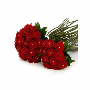 Pearl Pin Red Roses Hand Bunches