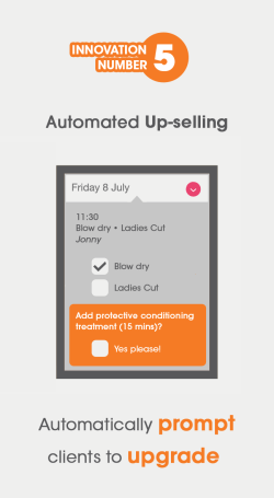 Visual showing the automated up-selling feature from gappt
