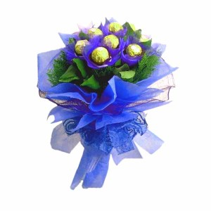 Ferrero Rocher Blue Hand Bunch