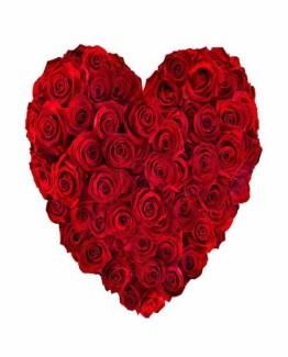 40 Roses Heart shape bouquet