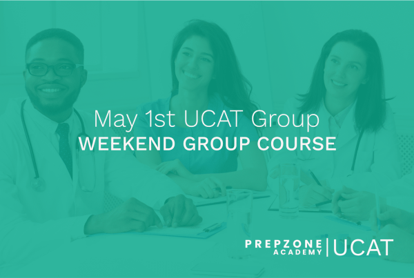 UCAT Weekend Group Course Schedule - May 1st, 2021