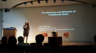 """We enjoyed hearing about Dr. Daphne Miller's (UCSF School of Medicine) interesting research adventures around the world studying """"The Wisdom and Science of Traditional Diets."""""""