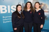 Students from Colaiste na Toirbhirte Bandon - Becky Collins, Mary McSweeney and Maróg Murphy