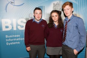 Students from Carrigaline Community School - John Barry, Eimear Brady and Shane Sexton