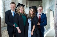 free pic no repro fee 18 oct 2016 Aidan Lynch Rochestown and Donagh Maher Neanagh with Janine Cahoon Shanakiel and Libhin O'Carroll Nenagh who graduated with a degree in Business Information Systems (BIS) from UCC on Tuesday, October 18th. Photography by Gerard McCarthy 087 8537228 more info contact Alison O'Brien Fuzion Communications 021 4271234 086 3879388