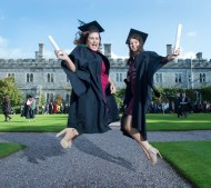 free pic no repro fee 18 oct 2016 Christine Walsh Togher and Christine Byrne Ballyvolane who graduated with a degree in Business Information Systems (BIS) from UCC on Tuesday, October 18th. Photography by Gerard McCarthy 087 8537228 more info contact Alison O'Brien Fuzion Communications 021 4271234 086 3879388