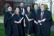 free pic no repro fee 18 oct 2016 Luke O'Sullivan, Carragaline, Elaine Lynch Aherla, John Little Cobh, Christine Morrison Midleton, Dean Crowley Myrtleville and Peter Stack Ballyphehane who graduated with a degree in Business Information Systems (BIS) from UCC on Tuesday, October 18th. Photography by Gerard McCarthy 087 8537228 more info contact Alison O'Brien Fuzion Communications 021 4271234 086 3879388