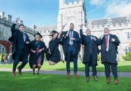 free pic no repro fee 18 oct 2016 Luke O'Sullivan, Carragaline, Elaine Lynch Aherla, Christine Morrison Midleton, John Little Cobh, Dean Crowley Myrtleville and Peter Stack Ballyphehane who graduated with a degree in Business Information Systems (BIS) from UCC on Tuesday, October 18th. Photography by Gerard McCarthy 087 8537228 more info contact Alison O'Brien Fuzion Communications 021 4271234 086 3879388