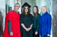 free pic no repro fee 18 oct 2016 Prof Ciaran Murphy Head of Cubs UCC and Patricia Lunch BIS UCC with Keira O'Sullivan and Gina O'Sullivan Rathpeacon who graduated with a degree in Business Information Systems (BIS) from UCC on Tuesday, October 18th. Photography by Gerard McCarthy 087 8537228 more info contact Alison O'Brien Fuzion Communications 021 4271234 086 3879388