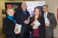 Patricia Lynch, BIS, Frank Murphy, MONEX, Mai de Barra, MONEX and Professor Kieran Murphy, Head of BIS and Dean of CUBS at the launch of the 19th Annual Business Information Systems (BIS) Anthology, showcasing the creative work of BIS students.