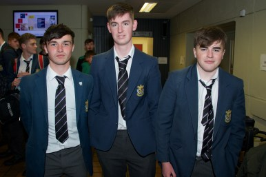 Owen Davis, Adam Kenny and Rob O'Callaghan from PBC Cork.