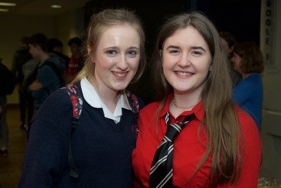 Anna Foley from Colaiste Treasa Kanturk and Maeve Kingston from Bandon Grammar School.