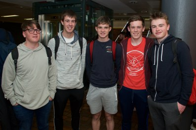 Andrew O'Brien, Sean O'Callaghan, David Andrews, Brian O'Connor and James Barr all from Rochestown College.