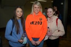 Aoibhinn Horgan Ballincollig Community School, Maria O'Sullivan fourth year BIS and Orla McEvoy from Ballincollig Community School.