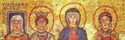 4th Century mosaics depict women in leadership; women deacons, priests, clergy wives, widows and virgin widows are described.