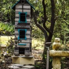 Bird Houses and Baths at Uccello Lane - This is near the chook pen and is very popular with the kookaburras