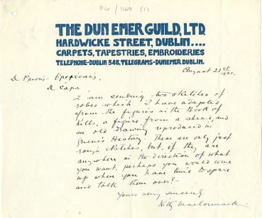 Letter from Kitty MacCormack (UCDA/P4/1169/1)