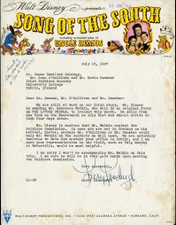 Letter from Larry Lansburgh to the National Folklore Collection 1947