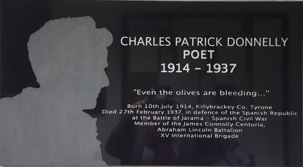 Charles Donnelly plaque