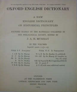 Oxford English Dictionary pamphlets