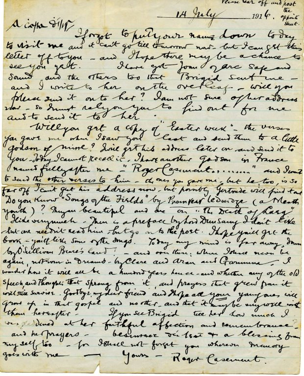 Letter from Casement