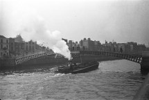 Steam barge on Liffey, Dublin