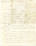 Letter from John to Michael before being sent to the front, 28 May 1916 (UCDA P57/190)
