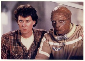 O'Herlihy as the alien Grig in 'The Last Starfighter' (UCDA P202/151)