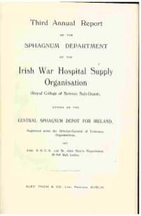 Third annual report of the Sphagnum Department