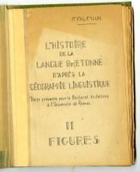 Cover of 'L'Histoire de la Langue Bretonnne'.