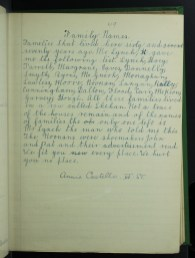 Annie Costello from Ballscadden, Co. Dublin on family names. From the School's Collection