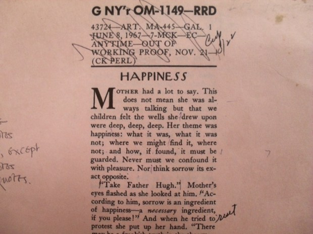 Proof copy of 'Happiness'