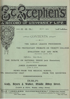 'St Stephen's', Vol. 1, No. 6, May 1902; Both Joyce and Curran wrote for the UCD magazine 'St Stephen's'.