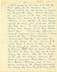 Second page of letter from T. Higgins about attack on the O'Driscoll house by Crown Force Marines, 13 December 1921 (UCDA P64/3 (74)