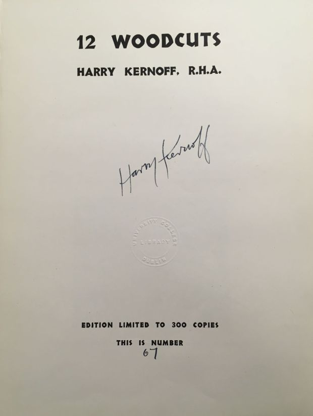 Title page from Kernoff's <em>12 Woodcuffs.</em>