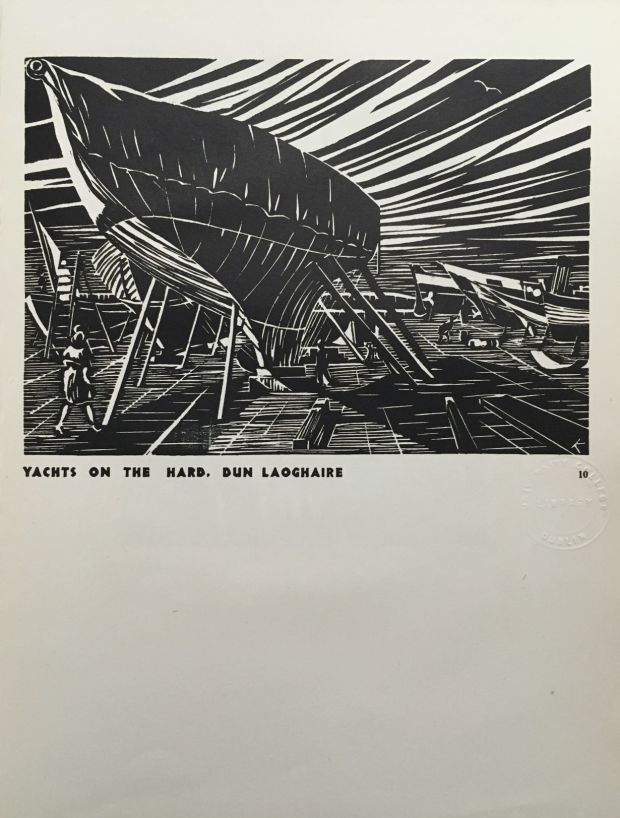 'Yachts on the Hard' from <em>12 Woodcuts.</em>