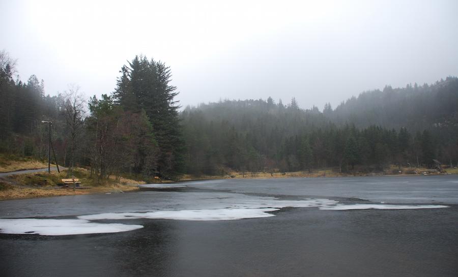 Danau di puncak Floien