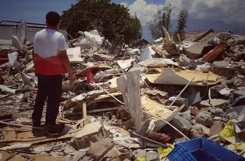 Kondisi bangunan yang terkena gempa