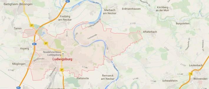 Ludwigsburg – Mapy Google