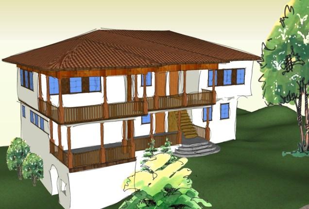 христодулова кућа урађена у SketchUp