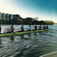 Senior Men's VIII+ in training
