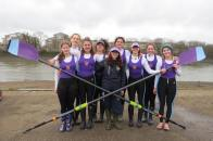 Winning Novice Women's 8+ at UH Head