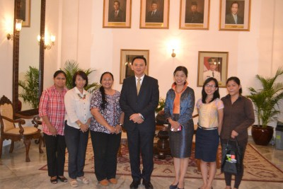 With Jakarta's Governor and UCLG ASPAC's Co-President, Basuki Tjahaja Purnama.