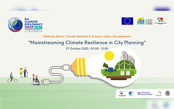 """CRIC Webinar:  """"Mainstreaming Climate Resilience in City Planning"""""""
