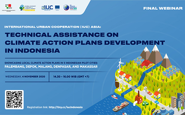 IUC Asia Final Webinar for Indonesian Pilot Cities: Technical Assistance on Climate Action Plans Development