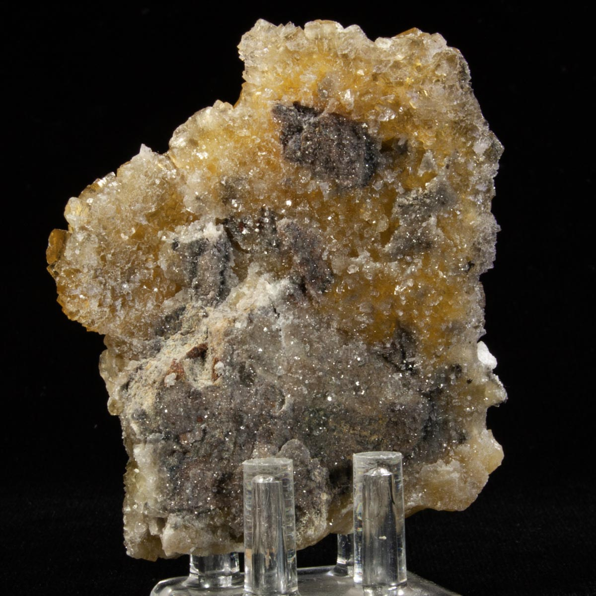 Fluorite and Chalcopyrite with Dolomite