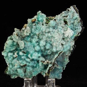 Quartz on Chrysocolla