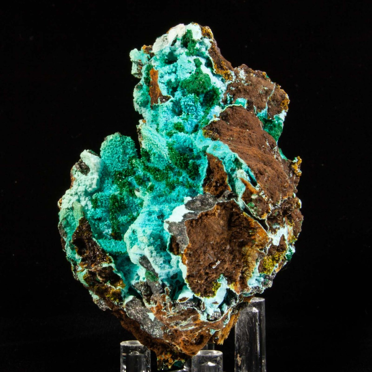 Chrysocolla ps. Malachite ps. Azurite